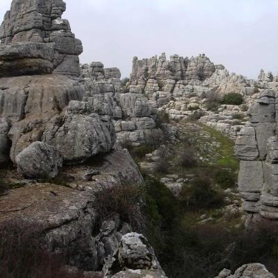 El Torcal rocks overview 11