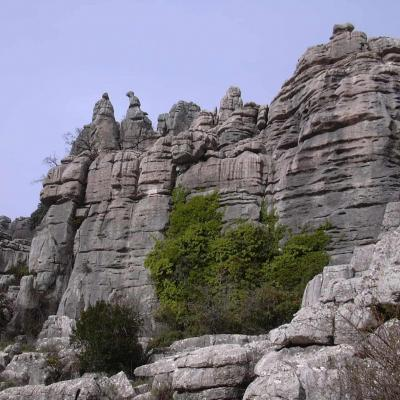 El Torcal rocks overview 18