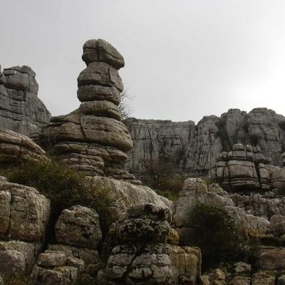 El Torcal rocks overview 19
