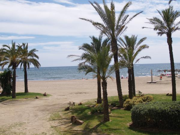 Benalmadena beaches and palms
