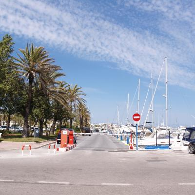 Puerto Marina parking entrance - April 29, 2008