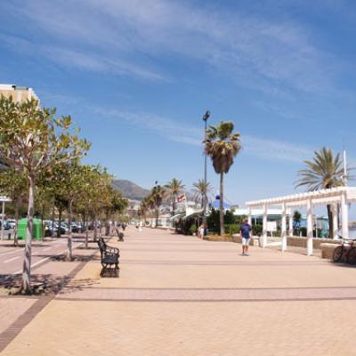 Fuengirola promenade and trees