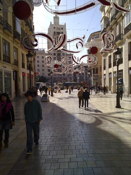 Malaga during Christmas 2010
