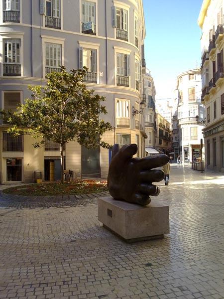 Malaga hand sculpture 2