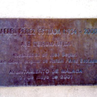 Plaque in Malaga to Rafael Estrada