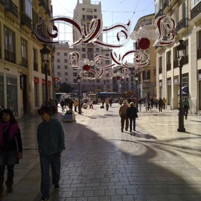Malaga during Christmas 2010