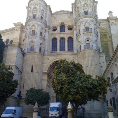 Malaga church facade