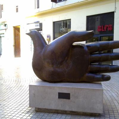 Malaga hand sculpture