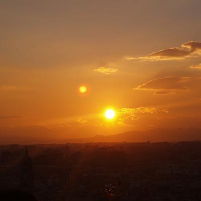 Atardecer desde este mirador de Málaga