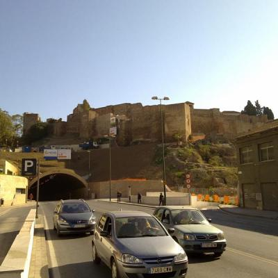 Next to Alcazaba