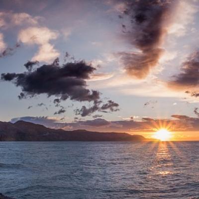 Beautiful sunrise in Nerja