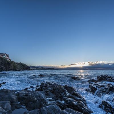 Sunrise from beach in Nerja