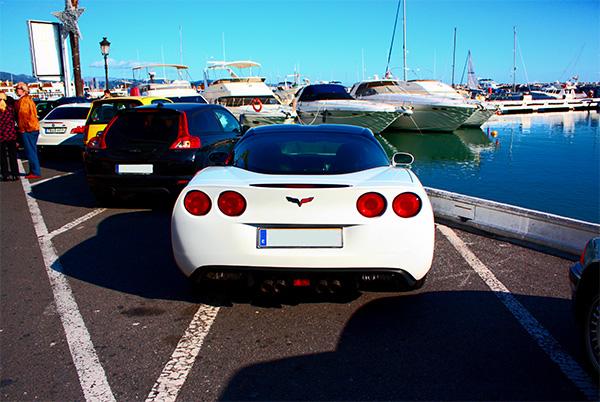 Corvette in Puerto Banus
