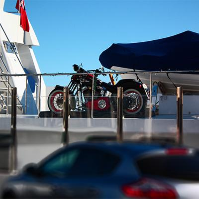 Harley on Yacht in Puerto Banus