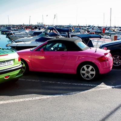 Puerto Banus and Pink audi