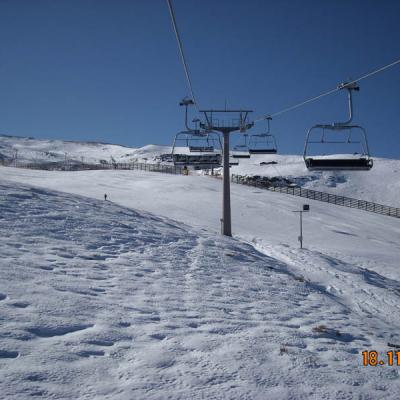 Sierra Nevada chairlifts photo