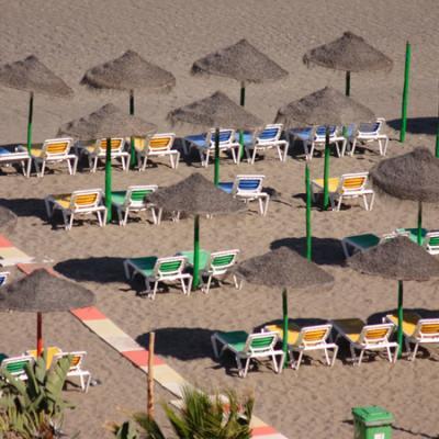 Torremolinos beach hammocks