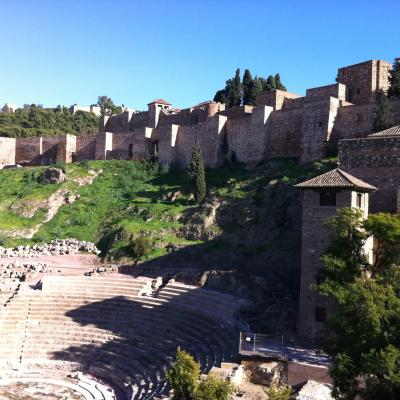 Roman theatre beside the Alcazaba fortress