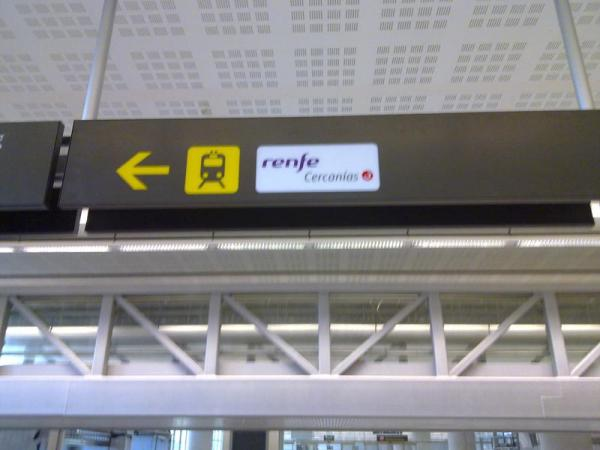 Malaga airport Train signal