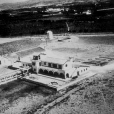 Malaga airport picture from 1948