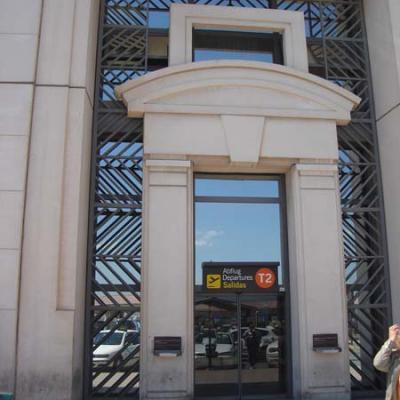 Entrada T2 aeropuerto de Malaga